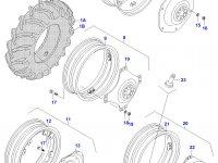 Вставка заднего колесного диска трактора (коническая гайка) — 659030