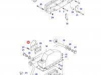 Патрубок интеркулера двигателя Sisu Diesel — 836752138