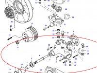 Водяной насос охлаждения двигателя Sisu Diesel — 836864484