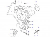 Патрубок турбокомпрессора двигателя Sisu Diesel — 836767416