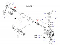 Шарнирный наконечник рулевой тяги трактора — 37948000