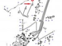 Топливная трубка третьего цилиндра двигателя Sisu Diesel — 836862059