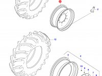 Задний колесный диск - DW23Ax42 (KINT.) — 34167300