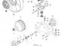 Вискомуфта вентилятора радиатора двигателя Sisu Diesel — 836864264
