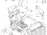 Воздушный фильтр двигателя Caterpillar трактора Challenger — 6I-2509