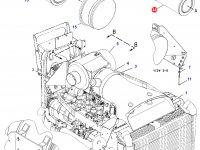 Воздушный фильтр (вставка) двигателя Caterpillar трактора Challenger — 6I-2510