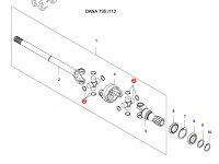 Крестовина приводного(шарнирного) вала переднего моста — 36699700