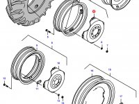 Вставка заднего колесного диска трактора — 33487700