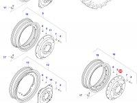 Вставка заднего колесного диска трактора (GKN, Reinforced) — 39735500
