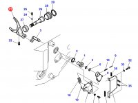 Вилка КПП трактора Challenger — 716101081040