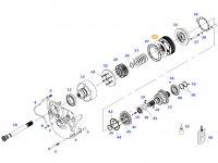 Диск фрикционный муфты ВОМ трактора Massey Ferguson — 716150220660