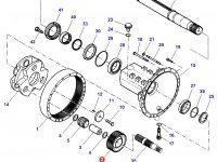 Планетарная (сателлитная) шестерня бортового редуктора заднего моста трактора Challenger — 718150151300