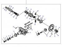 Дифференциал приводного моста трактора Massey Ferguson (фиксированный мост) — 7200440001