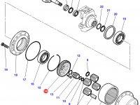 Солнечная шестерня бортового редуктора переднего моста трактора Challenger — 72422143