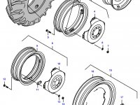 Задний колесный диск - DW12x38 — 33129800