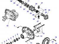 Коническая (главная) пара (конический редуктор) переднего моста трактора Massey Ferguson — 7300450301