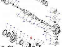 Коронная шестерня бортового редуктора переднего моста трактора Massey Ferguson (подвижный мост) — 7300602202