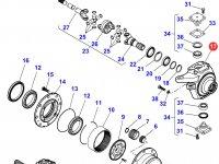 Правый поворотный кулак моста трактора Massey Ferguson — 7300604101
