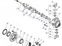 Правый бортовой редуктор(бортовая) переднего моста для трактора Massey Ferguson — 7300640015