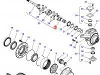 Крестовина приводного(шарнирного) вала бортового редуктора переднего моста тракторов Massey Ferguson (до 01-02-2015) — 7330645009