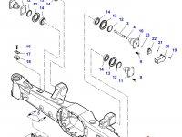 Картер переднего моста трактора Challenger (гидропневматическая подвеска) — 7350171201