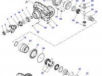 Дифференциал приводного моста трактора Massey Ferguson (фиксированный мост, до серийного C110016) — 7350440003