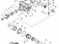 Коническая (главная) пара (конический редуктор) переднего моста трактора Massey Ferguson (до серийного C088015) — 7350450201