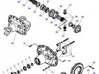Коническая (главная) пара (конический редуктор) переднего моста трактора Massey Ferguson — 7350450501