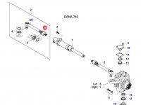 Шарнирный наконечник рулевой тяги трактора — 37017500