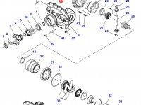 Коническая (главная) пара (конический редуктор) переднего моста трактора Massey Ferguson — 7400450801