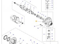 Правый поворотный кулак моста трактора Challenger — 7400602801