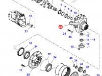 Правый поворотный кулак моста трактора Massey Ferguson — 7400602801