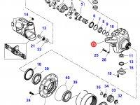 Правый поворотный кулак моста трактора Massey Ferguson — 7450601301