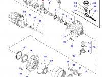 Крестовину приводного(шарнирного) вала бортового редуктора переднего моста трактора Challenger — 7450645009