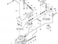 Топливная трубка шестого цилиндра двигателя Sisu Diesel — 837070082