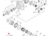 Дифференциал приводного моста трактора Massey Ferguson (фиксированный мост) — 7500440033