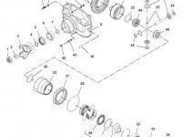 Коническую (главную) пару (конический редуктор) переднего моста трактора Challenger — 7500450301