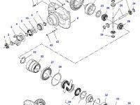 Коническую (главную) пару (конический редуктор) переднего моста трактора Challenger — 7500451201