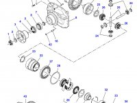 Коническая (главная) пара (конический редуктор) переднего моста трактора Massey Ferguson — 7500452901
