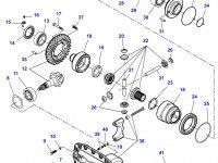 Диск фрикционный дифференциала моста трактора Challenger — 7500460002
