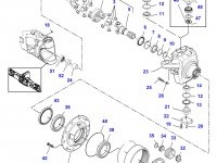 Солнечная шестерня бортового редуктора переднего моста трактора Challenger — 7500600702