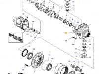 Левый поворотный кулак моста трактора Challenger — 7500605101