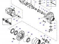 Правый бортовой редуктор(бортовая) переднего моста для трактора Massey Ferguson — 7500640007