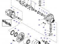 Левый бортовой редуктор(бортовая) переднего моста трактора Challenger (гидропневматическая подвеска) — 7500640010