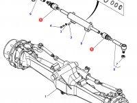Шарнирный наконечник рулевой тяги трактора Massey Ferguson — 7502445012
