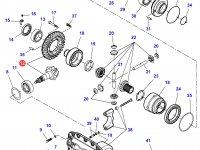 Коническую (главную) пару (конический редуктор) переднего моста трактора Challenger — 7550450501