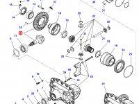 Коническая (главная) пара (конический редуктор) переднего моста трактора Massey Ferguson — 7550450701