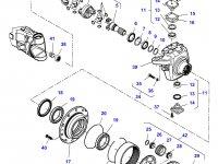 Солнечная шестерня бортового редуктора переднего моста трактора Massey Ferguson — 7550604102