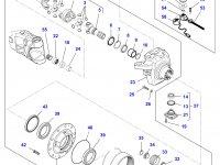 Коронная шестерня бортового редуктора переднего моста трактора Massey Ferguson — 7550604202
