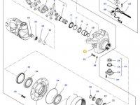Правый поворотный кулак моста трактора Challenger — 7550605601